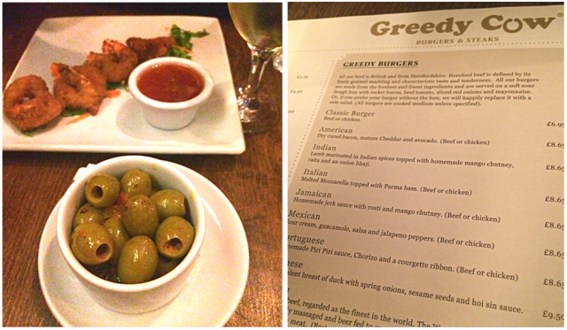 Olives and Menu